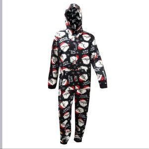 Santa Claws Hooded Pajamas Onesie unisex